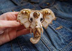 Leather Brooch | Брошь «Слон» из кожи