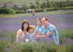 Family pose, family of four, natural poses, family photography, lavender field