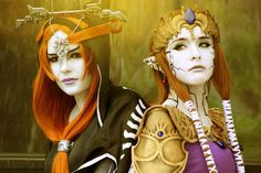 Mind-controlled Princess Zelda and Midna Cosplay - I wish my final outcome will look as good as this!