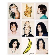 🍌Andy Warhol Polaroids 🍌#mickjagger #farrahfawcett #johnlennon #andywarhol #yokoono #biancajagger #fruitybooty