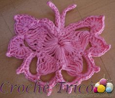 Hairpin lace butterfly motif, bordeleta
