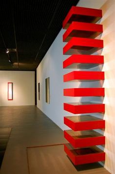"""The work in the foreground is by Donald Judd."" Brussels, Belgium photo of ""Museum of Modern Art, Brussels"" by IgoUgo travel photographer, frangliz ."