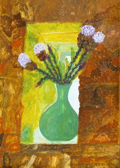 Virág az ablakban Painting, Art, Art Background, Painting Art, Kunst, Paintings, Performing Arts, Painted Canvas, Drawings
