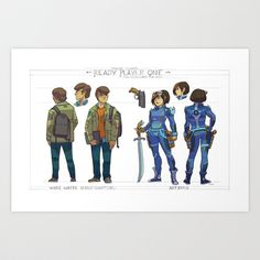 My take on Ready Player One's central characters Wade and Arty!