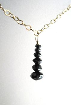 One Of A Kind Hand Cut Black Faceted Natural by Created2Inspire, $245.00