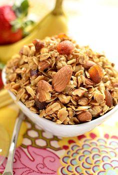 Homemade Maple Almond Granola   iowagirleats.com