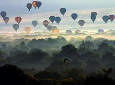 Perfect skies and peaceful clouds and joyful balloons - - - inspiration!