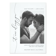 Shop It was always you save the date card created by REMINGTON_DESIGNS. Personalize it with photos & text or purchase as is! Modern Save The Dates, Save The Date Photos, Wedding Save The Dates, Save The Date Cards, Wedding Album, Wedding Signs, Wedding Cards, Wedding Paper, Photo Wedding Invitations
