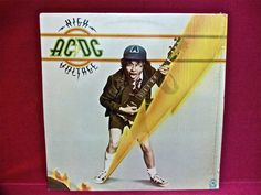 AC/DC  High Voltage  1976 Vintage Vinyl Record by thevinylfrontier, $12.00