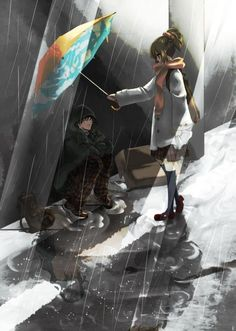 anime art- please take a moment to study this picture. Its amazing and tells a story. What do you spot?
