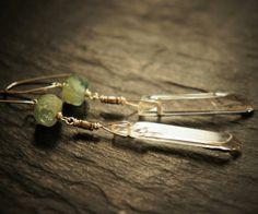 Sea Green Aquamarine Quartz and Sterling Silver by DakiniUK