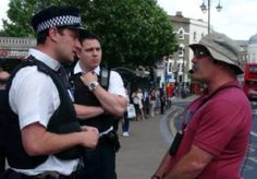 """Tony Miano, a retired deputy sheriff from Los Angeles Co., CA, was arrested in London, England, earlier this week for preaching on abstaining from sexual immorality, both heterosexual & homosexual...He was found to be in violation of Public Order Act Sec. 5, for """"using homophobic speech that could cause people anxiety, distress, alarm or insult.""""... Preaching from 1 Thes 4:1-12, Miano spoke about sexual sins for 25 mins before being cut off by Metropolitan Police officers who said that…"""