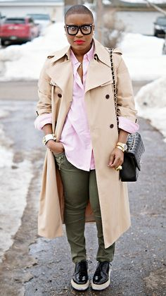 Nice way to wear a trench