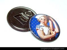 Magnete con apribottiglie PIN UP ø 56 mm di zolushka65 su Etsy