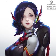 Tagged with art, gaming, anime, overwatch; Aliens, Cyberpunk, Overwatch Females, Character Art, Character Design, Character Ideas, Heroes United, Fanart, Overwatch Fan Art