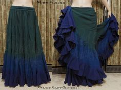 "25 Yard Skirt ""Royal Peacock"" color palette by Painted Lady Clothiers http://www.paintedladyemporium.com/Shop-Here.html"