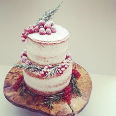 Rustic tiered cake by Artful Bakery