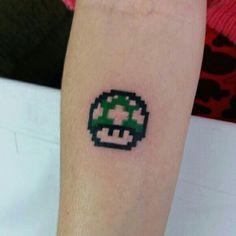 Tattoo Cogumelo Mário