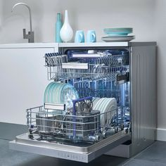 Not a fan of drying dishes out of the dishwasher? The Active Fan Drying system allows the dishes to come out at a normal temperature - you can pop them straight into the cupboard!   #beko #dishwasher #kitchen