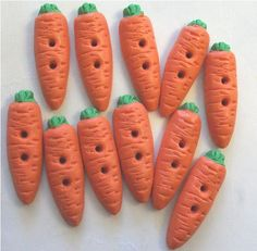 Fimo Carrot Buttons