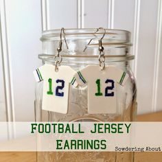 DIY Football Jersey earrings - customize for your own team!