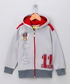Loving this Gray 'C4S' Zip-Up Hoodie - Toddler & Boys on #zulily! #zulilyfinds