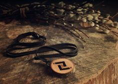 Jera rune necklace • Viking runes • Norse runes • Viking jewelry • Witch necklace • Pagan jewelry • Runic pendant • Wooden necklace • Runes by LoitsuCrafts on Etsy