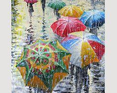 Raining/ umbrellas