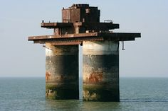 The Maunsell Forts were small fortified towers built in the Thames and Mersey estuaries during the Second World War to help defend the United Kingdom. They were designed by Guy Maunsell in 1942 to house anti-aircraft guns and search lights. The forts were decommissioned in the late 1950s and later used for other activities. Nowadays a consortium called Project Redsands is planning to conserve these magnificent remnants.