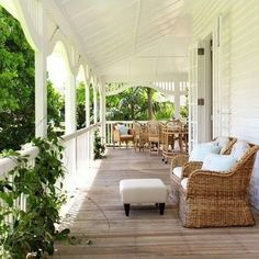 wrap around porch. My dream house will have a wrap around porch! Porches, Outdoor Rooms, Outdoor Living, Indoor Outdoor, Outdoor Patios, Outdoor Kitchens, Outdoor Seating, Indoor Garden, Queenslander House