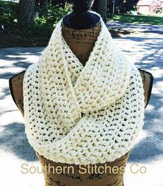 Pre-Season Sale Infinity Scarf Crochet Scarf by SouthernStitchesCo