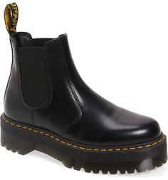 Dr. Martens 2976 Quad Platform Chelsea Boots Chunky Boots, Retro Sneakers, Goodyear Welt, Fall Shoes, Knee High Boots, Fashion Boots, Combat Boots, Comfortable Shoes
