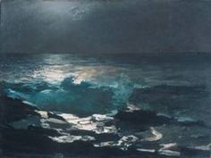 Love night seascapes.. this one by Winslow Homer