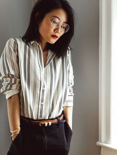 Hello, new favorite silk shirt  under $100. It's a lovely thicker silk with some heft, to hold up to the wear I'll be putting into it. (p.s...