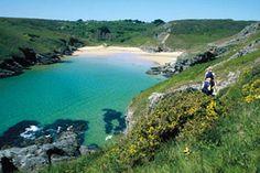 La plage d'Herlin -  Belle-Ile en mer - Bretagne - France