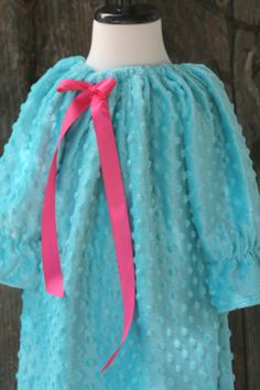 """Minky Teal Size  6 25"""" neck nape to hem - ready to ship - Claire Bear Boutique by lClaireBearBoutiquel on Etsy"""