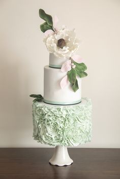 Beautiful cake from Baked In Caked Out, as featured in Your Manchester Wedding issue 29. www.bakedincakedout.com