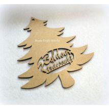 """Fenyő """"Boldog Karácsonyt"""" felirattal Fa"""
