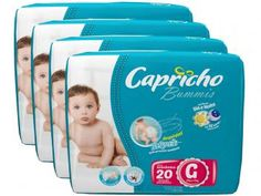 KIt de Fraldas Capricho Bummis G 20 Unidades - com Tecnologia Respirável Baby Air - 4 Pacotes