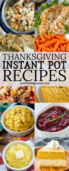 Make Thanksgiving easier by choosing some recipes to make in your Instant Pot! These Thanksgiving Instant Pot Recipes are all tried and tested! Crock Pot Recipes, Goulash Recipes, Chicken Recipes, Instant Pot Pressure Cooker, Pressure Cooker Recipes, Pressure Cooking, Easy Cooking, Healthy Cooking, Cooking Recipes