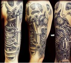 Biomechanik Tattoo stechen lassen - Ideen und inspirierende Beispiele  -
