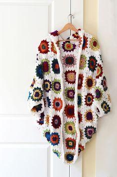 Crochet Granny Square Cocoon Shrug on SCAD Portfolios : Crochet Granny Square … : Crochet Granny Square Cocoon Shrug on SCAD Portfolios : Crochet Granny Square Cocoon Shrug on SCAD Portfolios Shrug Pattern, Crochet Cardigan Pattern, Granny Square Crochet Pattern, Crochet Stitches Patterns, Crochet Granny, Pull Crochet, Crochet Jacket, Crochet Poncho, Poncho Pullover