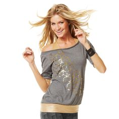 Galactic Gold Headliner Top | Zumba Fitness Shop #newcollection #zumbawear #zwag