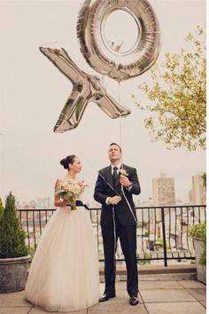XO Balloons - Read more on One Fab Day: http://onefabday.com/wedding-balloon-ideas/