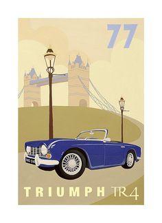 Vintage Poster -Car by Meldy, via Flickr