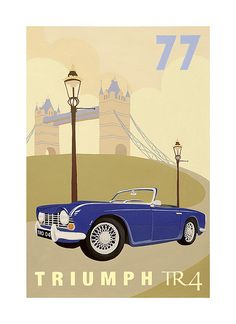 Vintage Poster -Car by Meldy, via Flickr