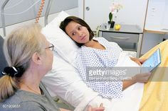 Stock Photo : Two People In Hospital