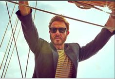 "Simon Le Bon Vanity Fair UK photo shoot on the boat the ""Rio"" video was shot on...."