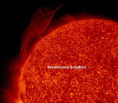 Attached image below by the Solar Dynamics Observatory (SDO) captures a prominence eruption off the northeast limb Tuesday evening. A quantity of plasma may have been flung into space leading to a possible coronal mass ejection. Due to the non Earth facing locaton, it will be directed away from our planet.