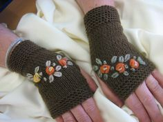 Knitting gloves by Suzann61 on Etsy, $25.00
